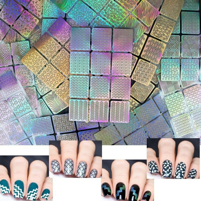 1pc Sheet Nail Vinyls Nail Art Manicure Stencil