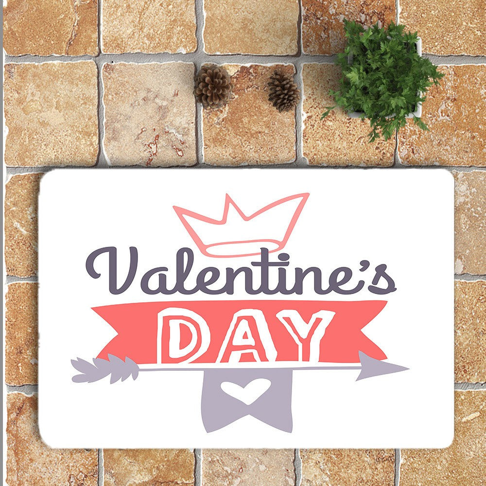 Romantic Valentine's Day Area Rug Mat