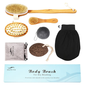 7pcs Nan Bamboo Body Cleaning Brush