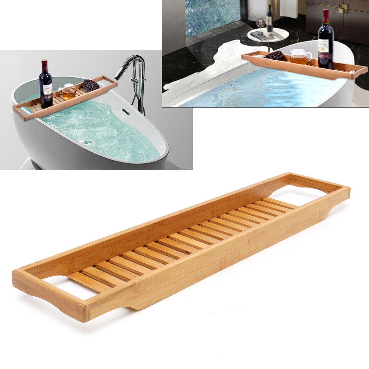 Bathroom Shelf Bath Tub Wine Rack Oganizer