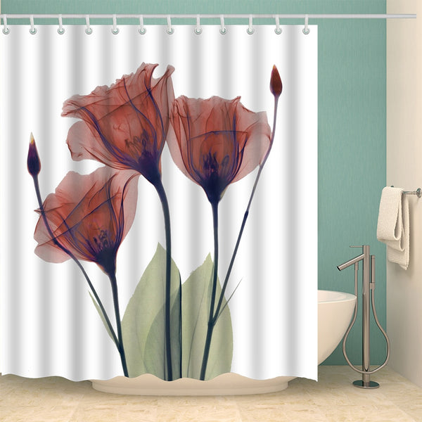 3D Printing Corn Poppy Shower Curtain Set