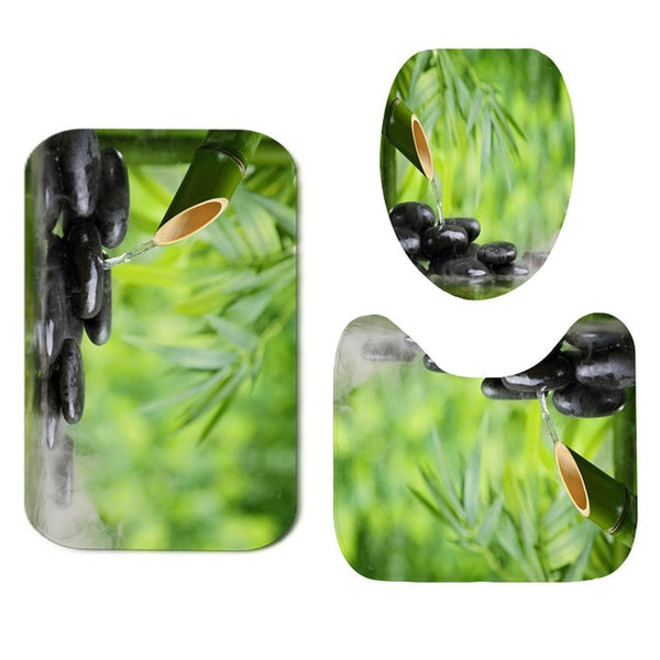 Nature Bathroom Shower Curtain Set