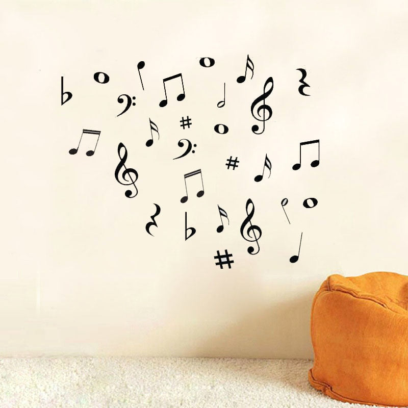 New Modern DIY Musical Notes Variety Pack Wall Stickers Vinyl Decoration Decal