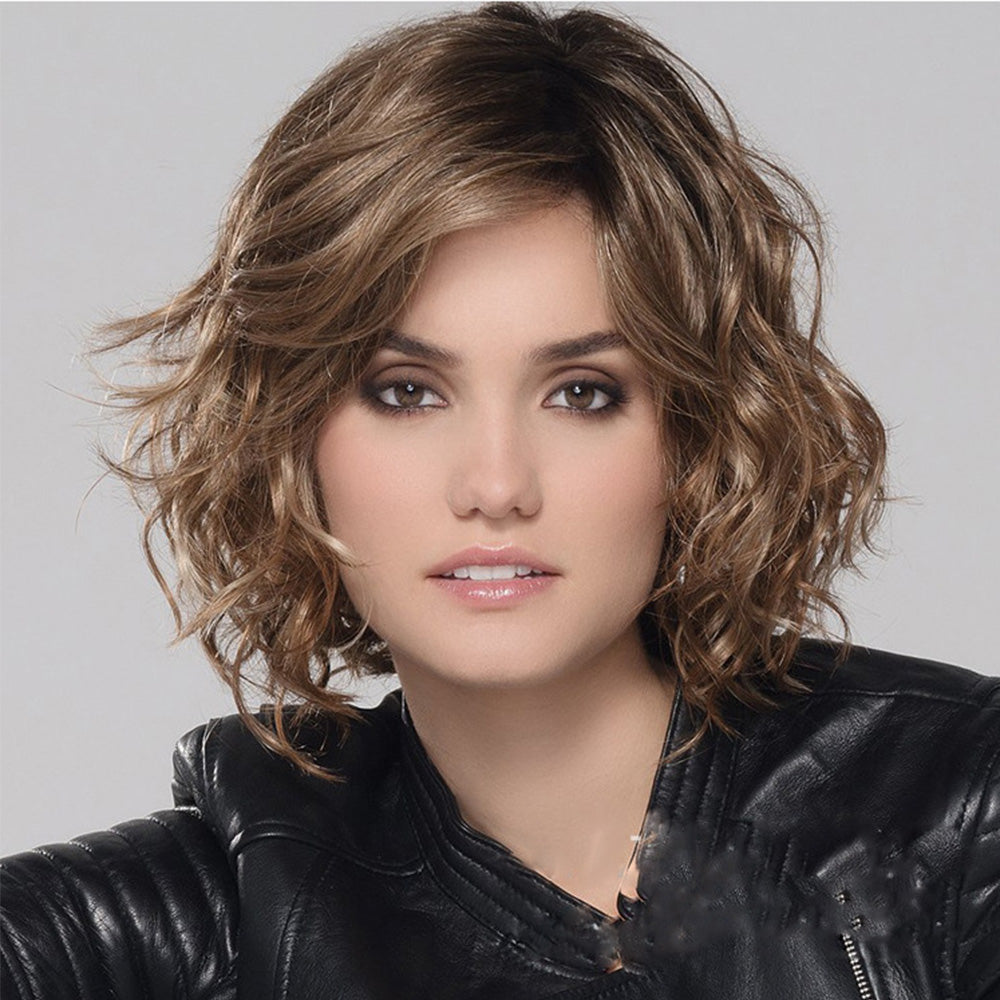 Layered Chin Length Curly Pixie Wig - Chánge-Wigs