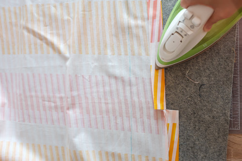Quick and Simple Free Ironing Board Cover Sewing Tutorial by The Weekend Quilter prepare loop