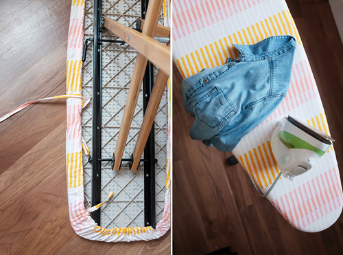 Quick and Simple Free Ironing Board Cover Sewing Tutorial by The Weekend Quilter Finish