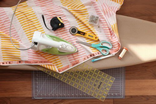 Quick and Simple Free Ironing Board Cover Sewing Tutorial by The Weekend Quilter Required Tools