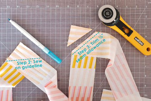 Quick and Simple Free Ironing Board Cover Sewing Tutorial by The Weekend Quilter Join Strips