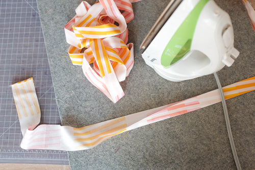 Quick and Simple Free Ironing Board Cover Sewing Tutorial by The Weekend Quilter Fold Ties