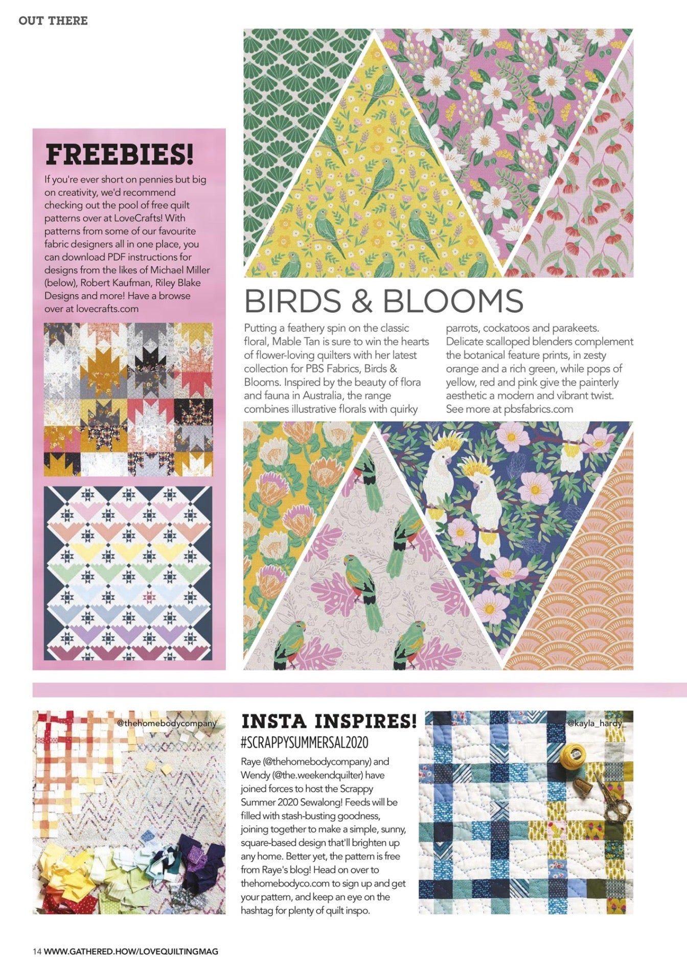 Scrappy Summer Sew Along 2020, Love Quilting and Patchwork Magazine issue #89 the homebody company the weekend quilter