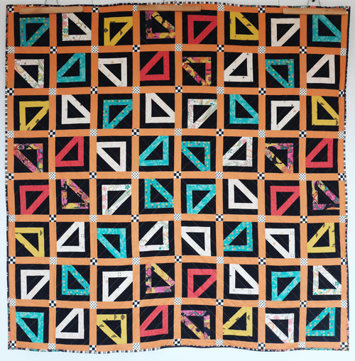 Lioness Quilt by The Weekend Quilter free modern quilt pattern with Art Gallery Fabrics Nuncia Collection _