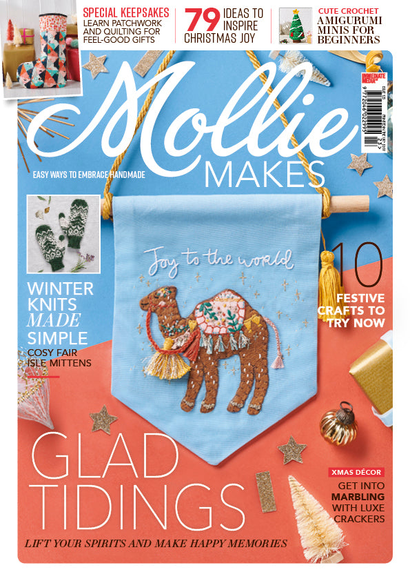 the weekend quilter christmas patchwork quilted stocking mollie makes magazine issue 123