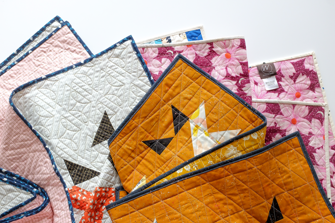 binding ideas ruby star society the weekend quilter solar slice quilt