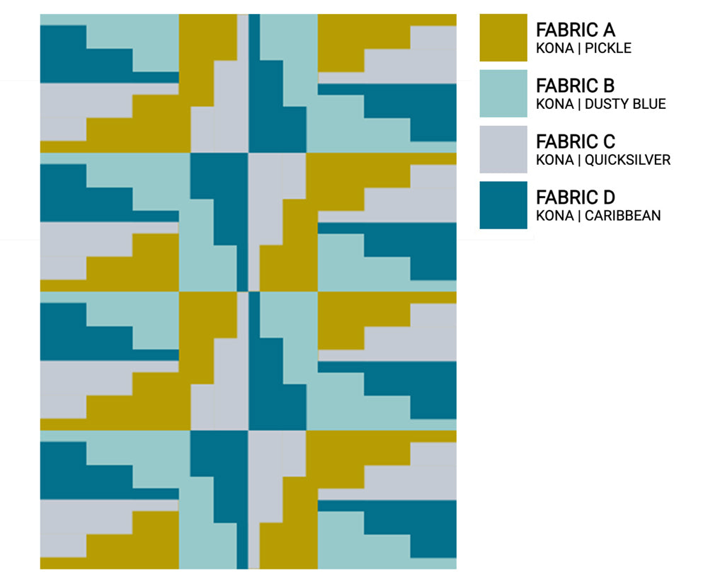 The Weekend Quilter Empire State Mini Quilt Digital Colorway Inspiration Kona Cotton