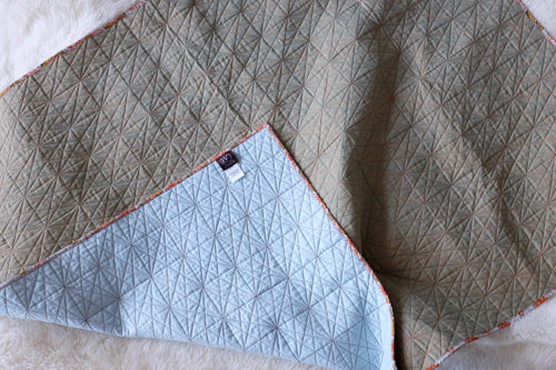 Wholecloth quilt tutorial on how to domestic machine quilt six pointed star quilting