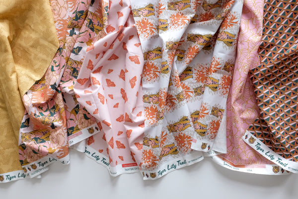 The Weekend Quilter Tiger Lily Free Modern Quilt Pattern Fabrics by Teresa Chan for Paintbrush Studio Fabrics