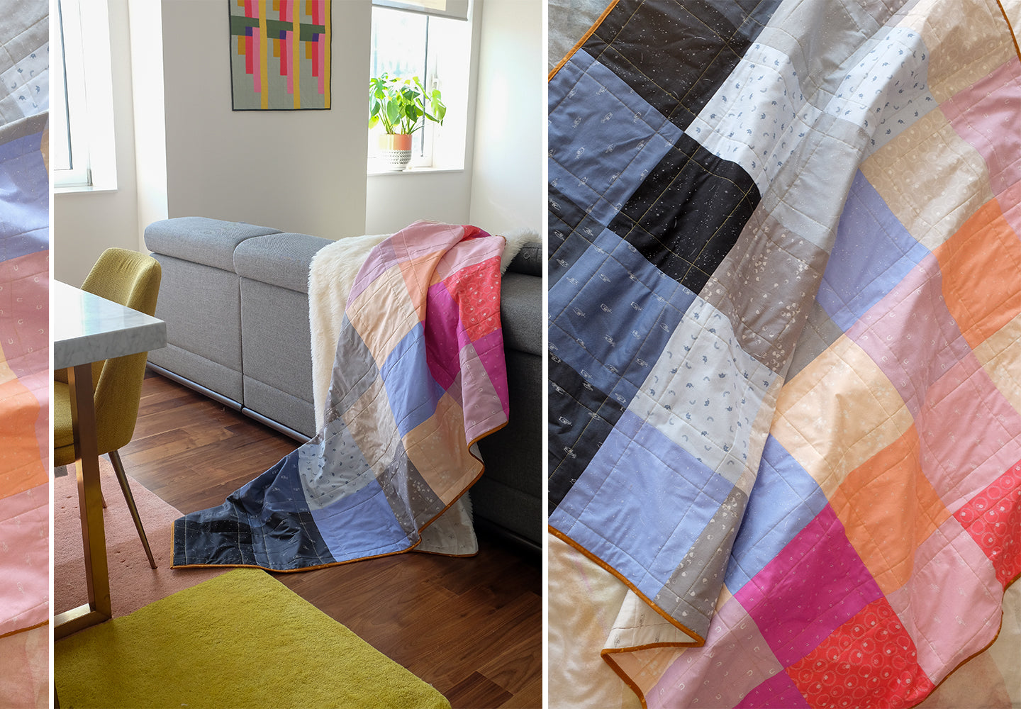 How to make a patchwork quilt in just one weekend. LoveCrafts.com The Weekend Quilter Wendy Chow