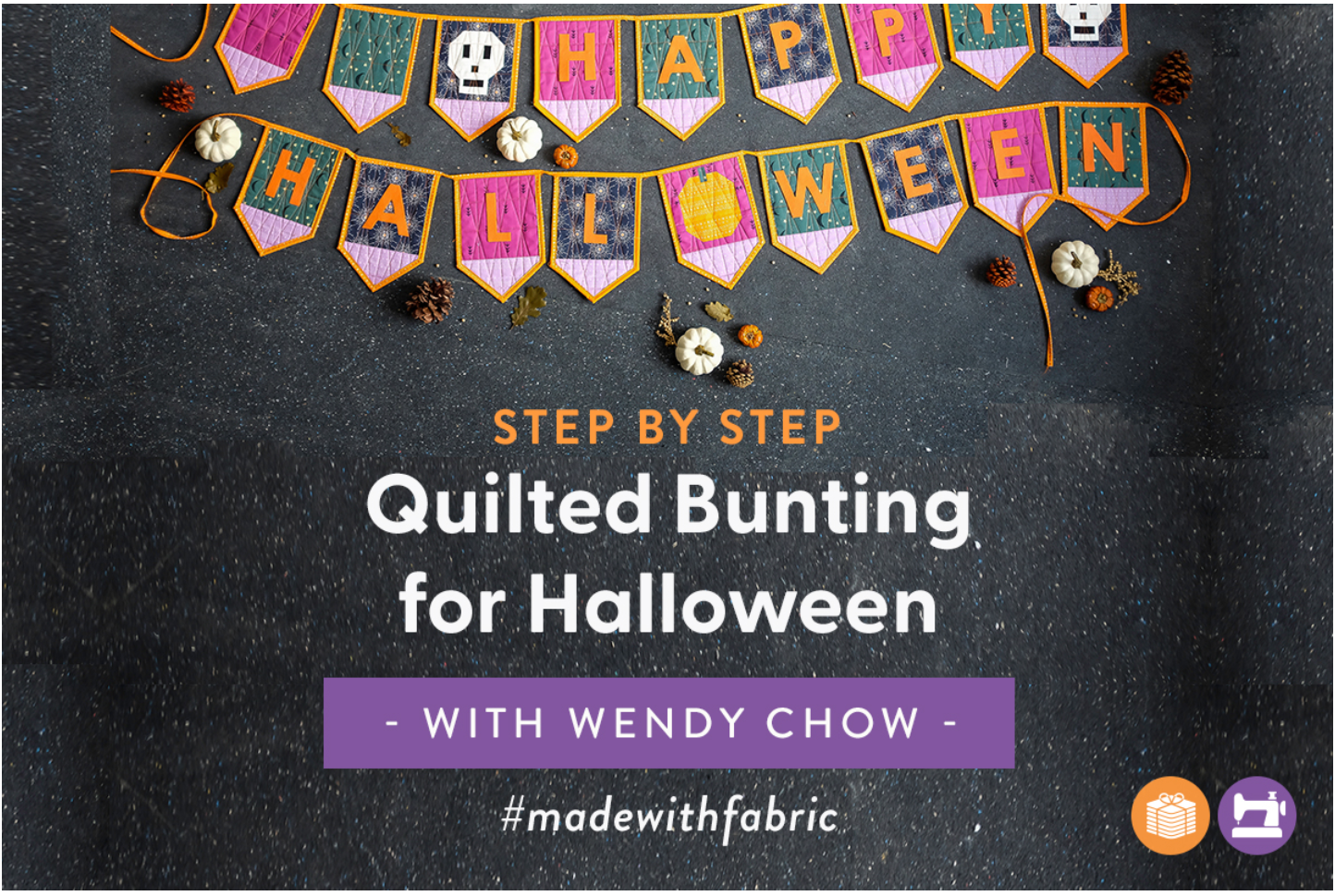 The Weekend Quilter Wendy Chow DIY Quilted Bunting for Halloween Fabric.com Blog