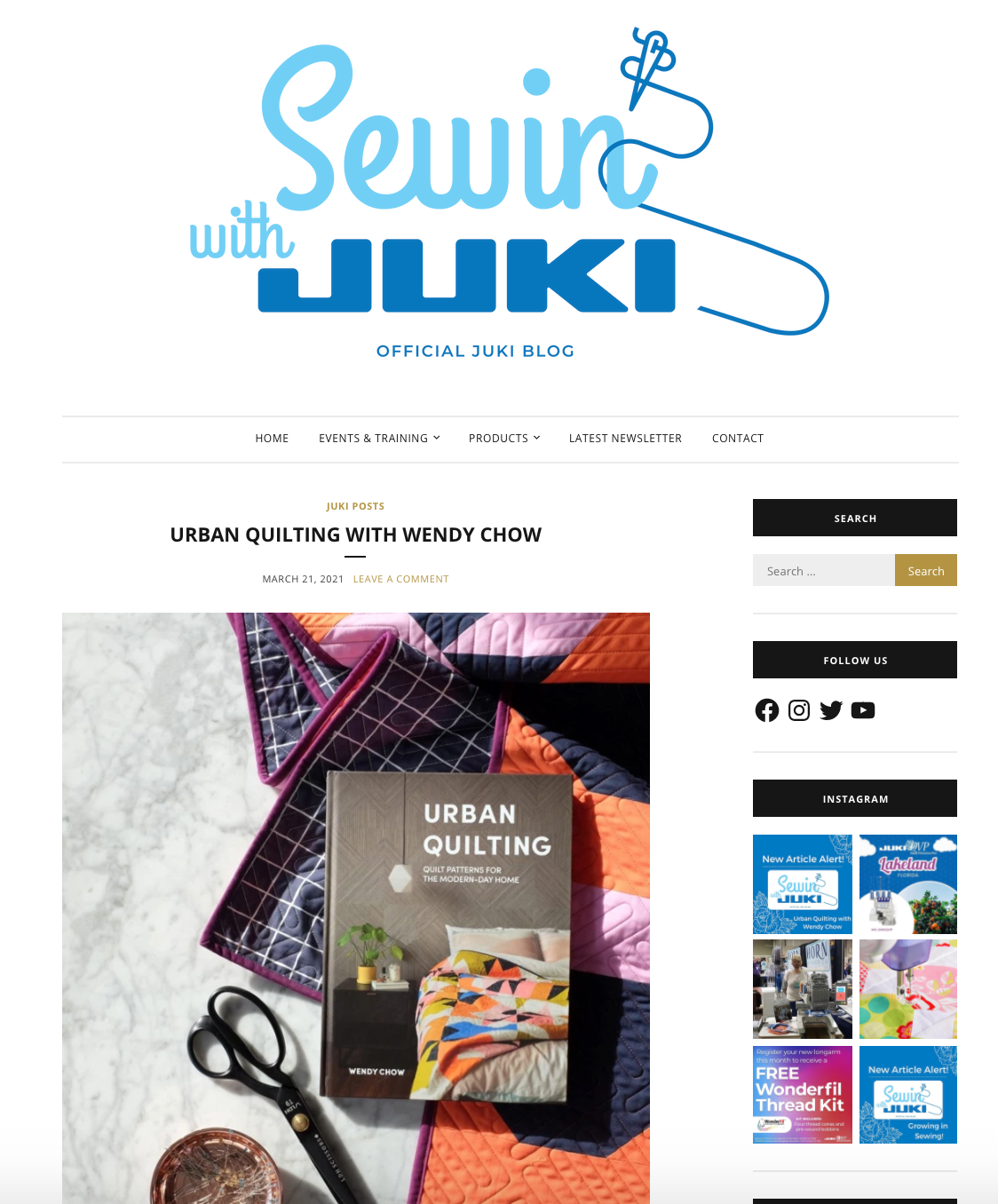The Weekend Quilter Wendy Chow Sewin With Juki Blog Urban Quilting Book Feature