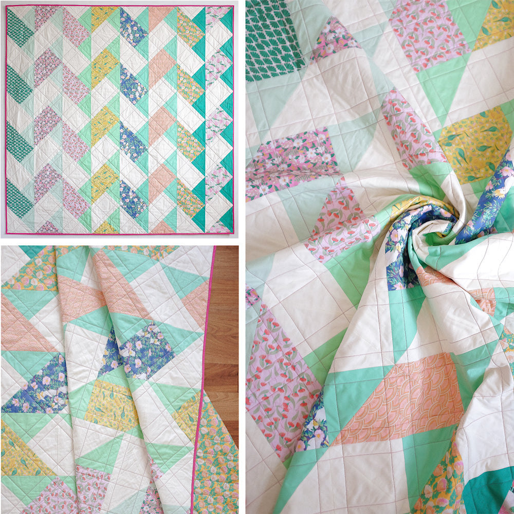 Garden Wall Quilt by The Weekend Quilter free beginners modern quilt pattern