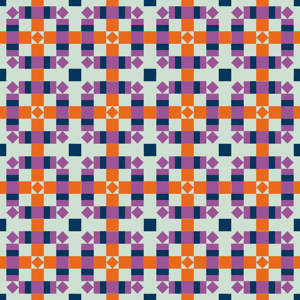 The Weekend Quilter Plaidful Modern Quilt Pattern Digital coloring page mockup