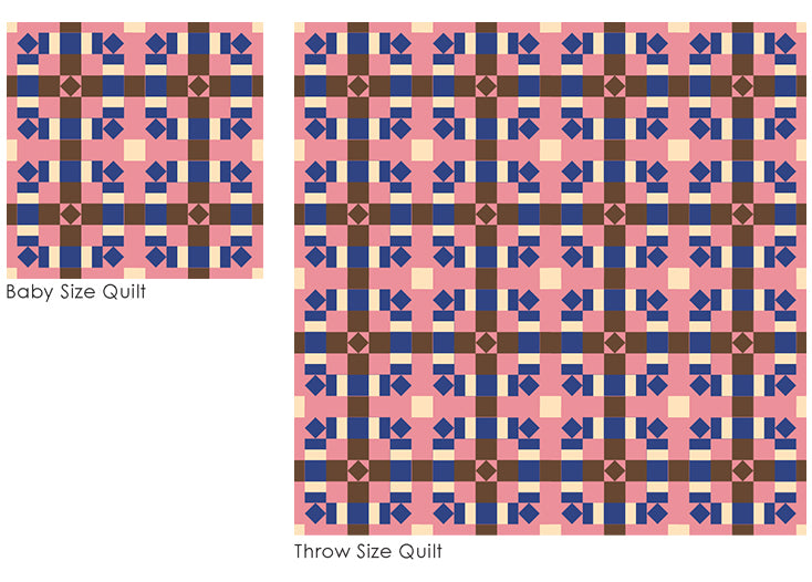 The Weekend Quilter Plaidful Modern Quilt Pattern for confident beginners Digital Mock Up different sizes