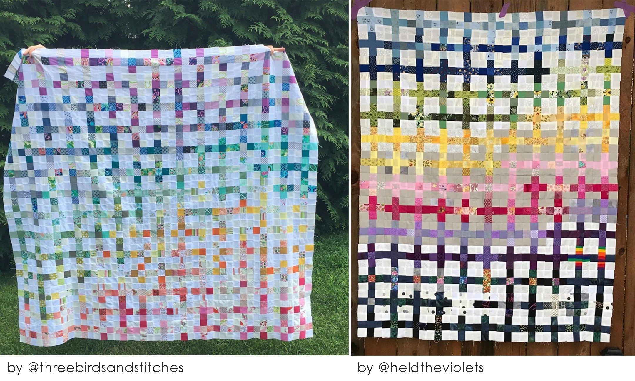 Craft the Rainbow scrappy summer quilt sew along