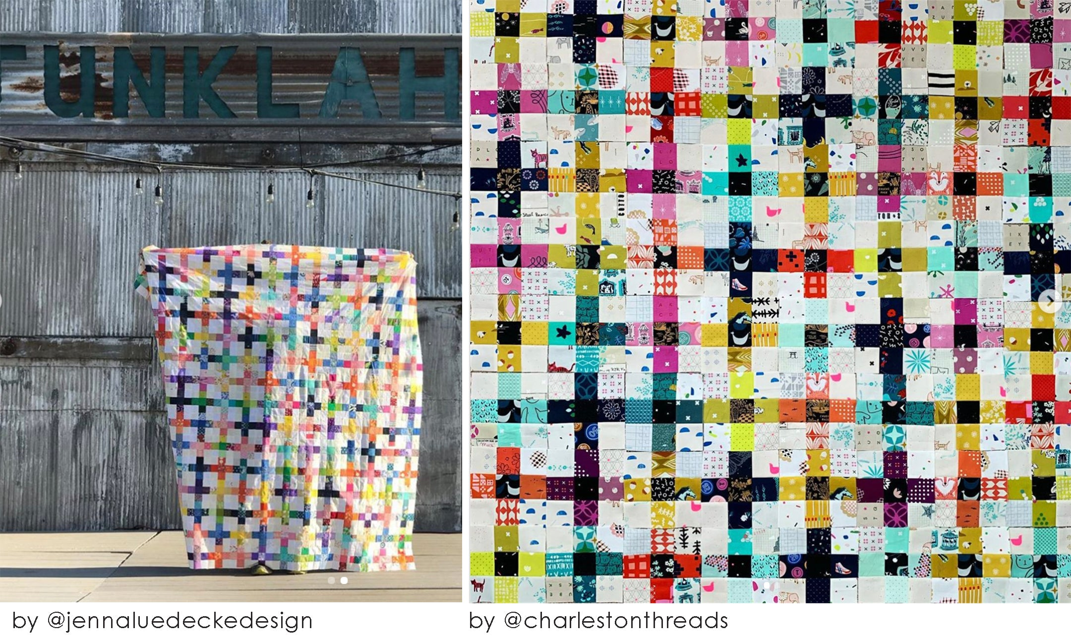 scrappy Summer sew along mix it up multicolored multicolors scrap quilt