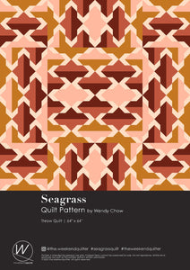 Seagrass Quilt Pattern by the.weekendquilter the weekend quilter modern quilt pattern