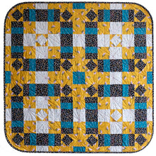 Load image into Gallery viewer, The Weekend Quilter Plaidful Modern Quilt Pattern for confident beginners in Baby Size wall hanging
