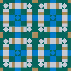 The Weekend Quilter Plaidful Modern Quilt Pattern for confident beginners in Baby Size wall hanging