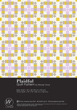 Load image into Gallery viewer, The Weekend Quilter Plaidful Modern Quilt Pattern for confident beginners in Cover Page