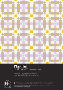 The Weekend Quilter Plaidful Modern Quilt Pattern for confident beginners in Cover Page
