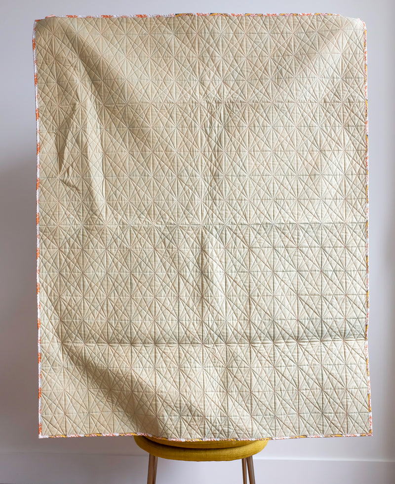 The Weekend Quilter Sample Sale Simple Solid Neutral Wholecloth Baby Size Quilt