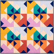 Load image into Gallery viewer, The Weekend Quilter Wind Tunnel Modern Baby Size Quilt in Kona Cotton Fabrics