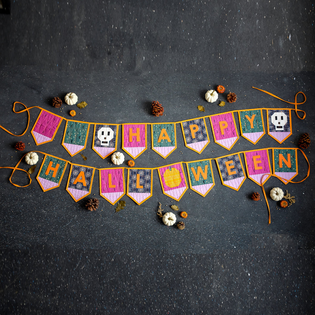 Quilted Halloween Bunting Pattern