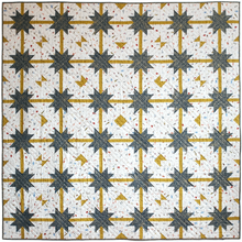 Load image into Gallery viewer, the weekend quilter the.weekendquilter meteor shower quilt pattern modern sawtooth star prequilt colouring coloring page one-toned star Rifle paper co cotton and steel fabric.com