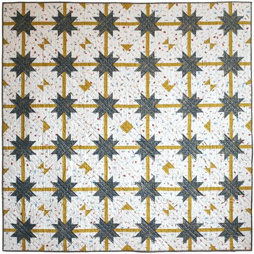 the weekend quilter the.weekendquilter meteor shower quilt pattern modern sawtooth star prequilt colouring coloring page one-toned star Rifle paper co cotton and steel fabric.com