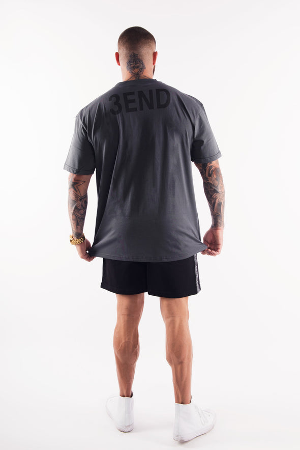 THE BODY BUILDER OVERSIZED TEE - CHARCOAL (4175493070948)