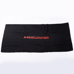 MUSCLE NATION GYM TOWEL - BLACK (4421911052388)