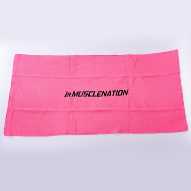 MUSCLE NATION GYM TOWEL - PINK (4421910691940)