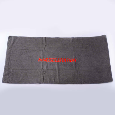 MUSCLE NATION GYM TOWEL - GREY (4429806272612)