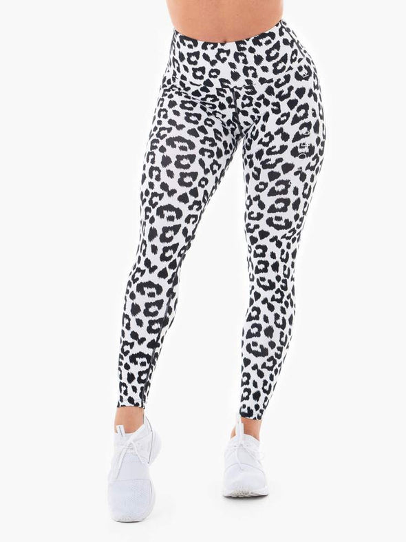 INSTINCTS SCRUNCH BUM LEGGINGS- SNOW LEOPARD (4512401490020)