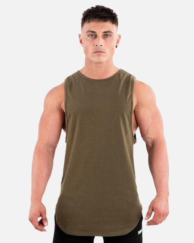 CUT-OFF TANK - MILITARY GREEN (5720637866146)