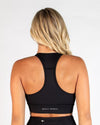 STRUCTURE SPORTS BRA - BLACK (5462892249250)