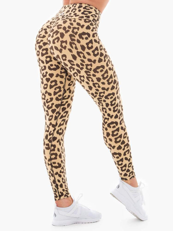 INSTINCTS SCRUNCH BUM LEGGINGS- TAN LEOPARD (5286548897954)