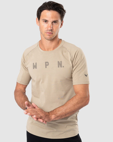 WPN. CO Men's Short-Sleeve Training T-Shirt- Khaki (4409932415076)