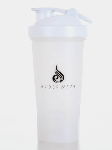 RYDERWEAR PROTEIN SHAKER BOTTLE- WHITE (4418572320868)