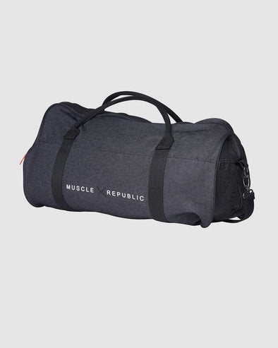 MUSCLE REPUBLIC DUFFEL BAG- BLACK (3644542451812)
