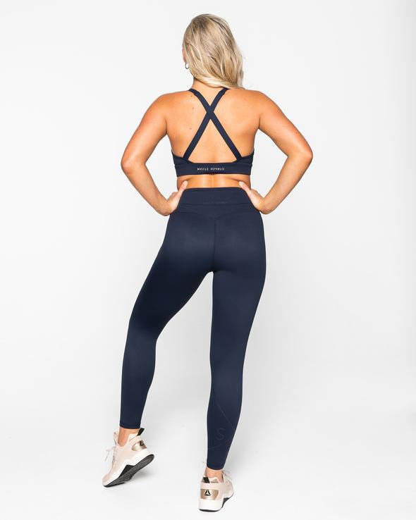 INSPIRE FULL LEGGINGS- NAVY (5462749872290)